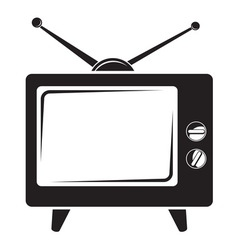 TV BW vector image vector image
