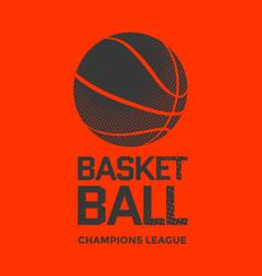 basketball poster design vector image