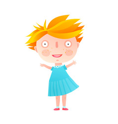 cute little girl standing isolated vector image