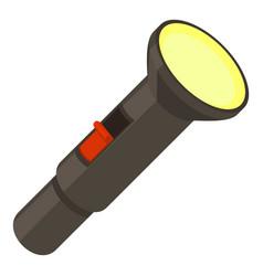 pocket flashlight icon cartoon style vector image