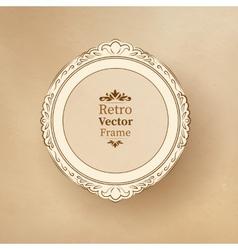 Round vintage baroque frame vector image vector image