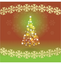 Abstract christmas tree vector image vector image