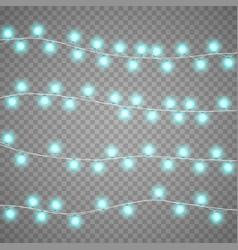 christmas garlands isolation on transparent vector image vector image