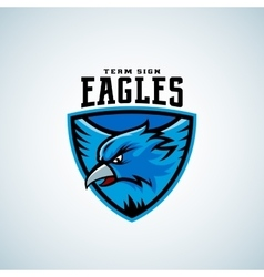 Eagle in a Shield Abstract Sport Emblem vector image vector image