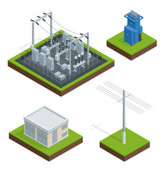 electric energy factory distribution chain vector image
