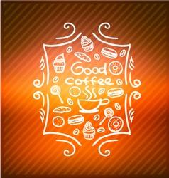 Good coffee vector