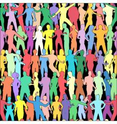 people tile vector image vector image
