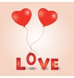 Valentines day heart balloon vector image