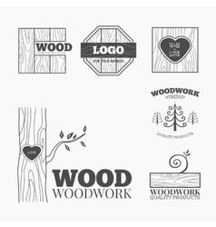 Wood products logo vector