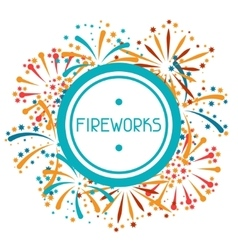 Background with abstract fireworks and salute vector image vector image