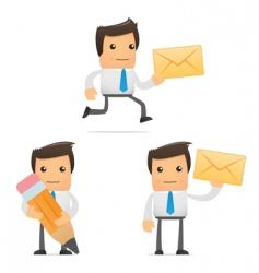 cartoon office workers vector image