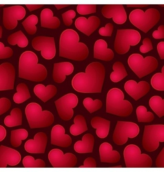 Red Hearts Seamless Background vector image vector image