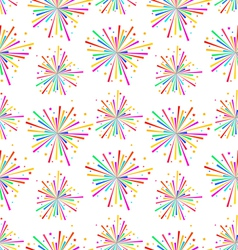 Seamless Texture with Multicolored Firework for vector image