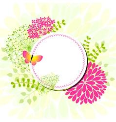 spring flower center vector image vector image