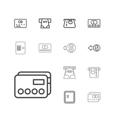 13 transaction icons vector