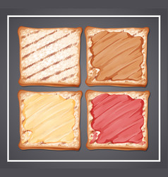 A set of toast vector
