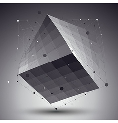Abstract 3D structure polygonal network pattern vector image