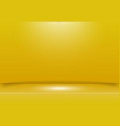 Abstract yellow studio room background vector