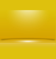 abstract yellow studio room background with vector image