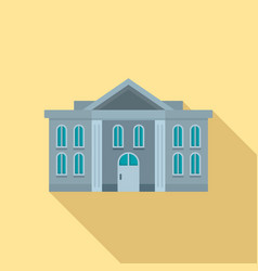 Administrative courthouse icon flat style vector