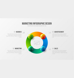 amazing business infographic presentation vector image