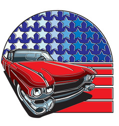 american style badge vector image