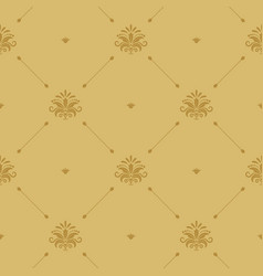 Aristocratic baroque wallpaper seamless vector