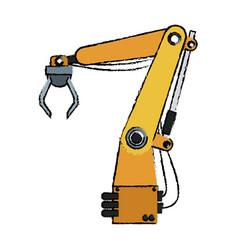 Artificial arm machine technology futuristic vector