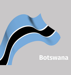 background with botswana wavy flag vector image