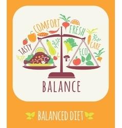 Balanced diet vector