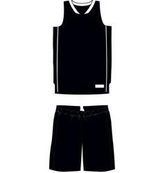 Basketball women semi racer back jersey shorts vector