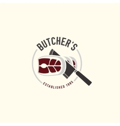 Butcher shop logo 05 A vector