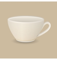 Cappuccino cup vector image