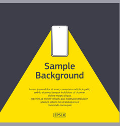 cell phone light with sample text vector image