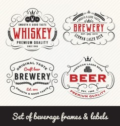 Classic Vintage Beverage Frame and Labels Design vector