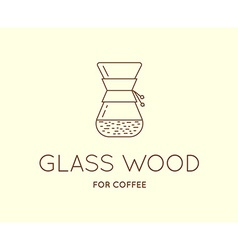 Coffee Accessories Icon with Letter Sign can be vector