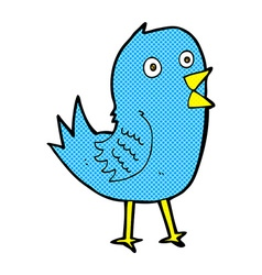 comic cartoon bluebird vector image