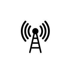 communication antenna flat icon vector image