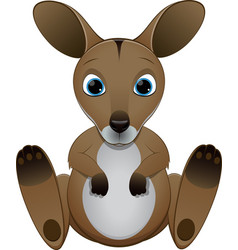 Cute baby kangaroo vector