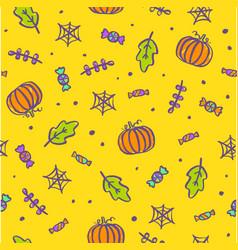 cute cartoon halloween background vector image