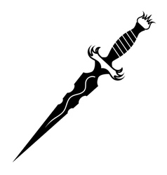 Dagger tattoo vector