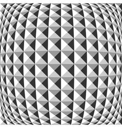 Design monochrome warped geometric pattern vector