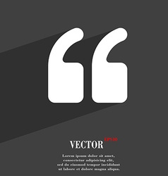 Double quotes at beginning words icon vector