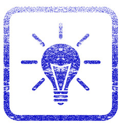 Electric light framed textured icon vector