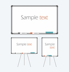Empty whiteboard vector