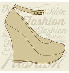 fashion icons fashion shoes vector image