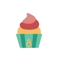 Flat icon on white background cream cake vector