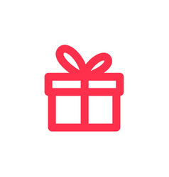 gift icon outline line logo download vector image
