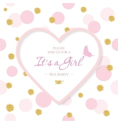 Girl bashower invitation template included vector