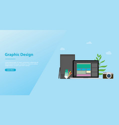 graphic design and designer concept with team vector image